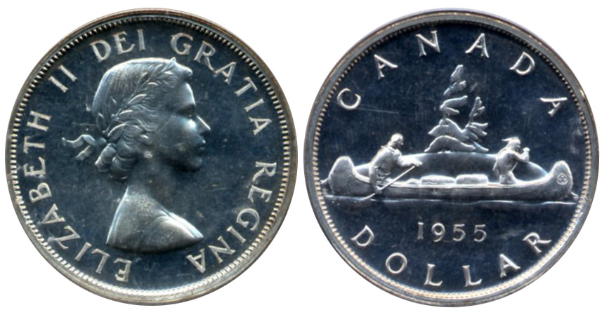 double date 1952-2002 in MS CANADA 1$ Dollar 2002